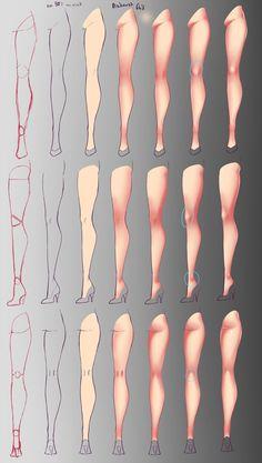 How I paint - Legs by rika-dono.deviantart.com on @DeviantArt