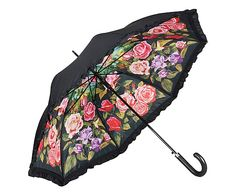 Regenschirm Rosengarten, L 88 cm