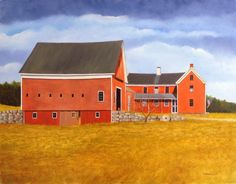 Willow Brook Farm, oil on panel, 14 x 18 inches, Marieluise Hutchinson.