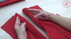 Обработка платья подкладкой. Как втачать потайную молнию Часть 1