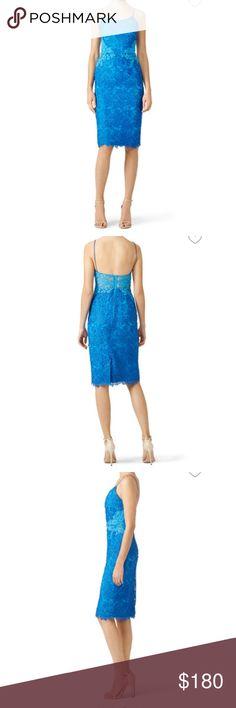 NWT Monique Lhuillier Blue Lace Dress NWT Monique Lhuillier Blue Lace Dress. Amazing for summer wedding!! Monique Lhuillier Dresses