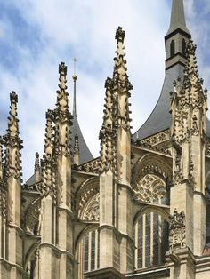 Detail of St.Barbara late gothic church in Kutná Hora (Central Bohemia), Czechia