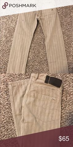 Men's jeans Men's diesel taupe jeans, some distressed to them, never worn. Size 33 Jeans Straight