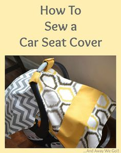 Last September, I shared the car seat cover that I made for Henry, in this post . I have been pleasantly surprised at how much traffic . Clean Car Seats, Baby Car Seats, Infant Car Seat Canopy, Car Seat Cover Pattern, Baby Sewing Projects, Sewing Ideas, Sewing Tips, Sewing Crafts, Fleece Projects