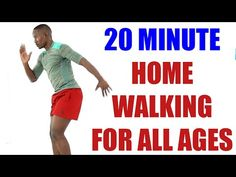 20 Minute Home Walking For All Ages/ Best Walk At Home Routine - YouTube Ab Workout With Weights, Walking Exercise, Walking Workouts, Standing Abs, Dumbbell Workout, Man Workout, Plus Size Workout, Senior Fitness, Excercise