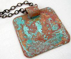 Vinegar and Salt Patina | Need a new necklace to add to your collection? #DIYReady DIYReady.com
