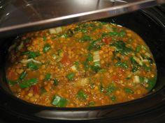 Healthy Slow Cooker Lentil Soup - 4 WW Points Plus per serving for 1.5 cups!