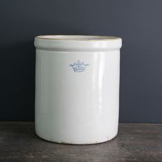 6-Gallon Blue Crown Crock - these are great for many things.
