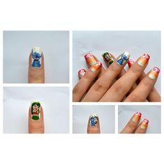 Nail Art Gallery Lilo and Stitch! via Polyvore