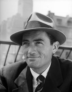 Gregory Peck donning a felt fedora.