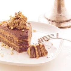 Gâteau de crêpes au chocolat et au praliné - Chocolat & Caetera