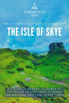 The Ultimate Guide to the Isle of Skye. 13 Things to do, 3-4 day itinerary, how to judge the weather and where to stay! #thingstodoinisleofskye #thingstodoinskye #thingstodoinscotland #nc500 #northcoast500 #isleofskye