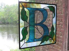 Custom Stained Glass Monogram by RenaissanceGlass on Etsy