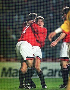 Eric Cantona and David Beckham