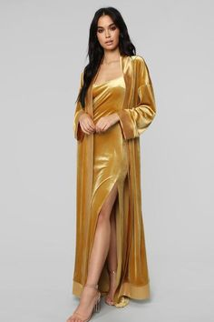 Shop matching sets for women, two piece outfits with pants, shorts and skirts and cute co-ord sets for work-worthy looks, dynamite daytime styles and knock-out night ensembles. Lingerie Outfits, Women Lingerie, Velvet Bridesmaid Dresses, Velvet Dresses, Gold Velvet Dress, Velvet Dress Designs, Mode Kimono, Jolie Lingerie, Bridal Dress Design