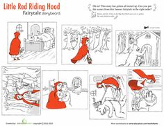 Red riding hood SEQUENCING STORIES  learningenglishesl  Little
