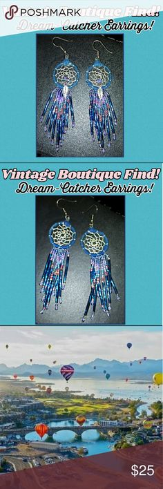 Dream-Catcher Earrings! A Vintage Boutique Find! Lovely Dream-Catcher Earrings! These are a vintage boutique find from Lake Havasu, Arizona; home of one of the best balloon and fair festivals in all of AZ! These are on trend but the difference between the manufactured ones and these is the history & story of them. One of which we will never know, but definitely not made in China from the looks of them. Be different. Be YOU. Please like or share! Rock'N Ship USA! New items added daily…