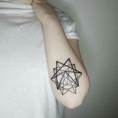 Geometric star tattoo