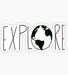 """Explore the Globe III"" Stickers by Leah Flores Stickers Cool, Bubble Stickers, Phone Stickers, Proyectos Cricut Explore, Collage Mural, Aesthetic Stickers, Sticker Design, Vsco, Globe"