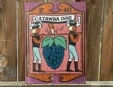 Catawba Inne wooden sign vintage wooden sign old by pennsvintage