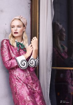Actress Kate Bosworth looks pretty in pastels for the October 2017 cover from Harper's Bazaar Taiwan. Lensed by Harper Smith (See Management), the blonde poses in a shimmering pink dress from Gucci's fall collection. In the accompanying shoot, Kate looks beyond elegant in designer looks styled by Solange Franklin. The 34-year-old wears the designs of... [Read More]