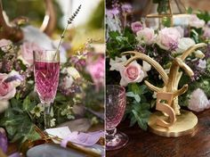 Luxe Boho meets Soft Lavender - #Wedding Inspiration Styled Shoot using boho details and a colour palette of gold, lavender, deep purple, sage and blush. It's all in the details with the gorgeous place settings and centerpieces. #boho #weddinginspiration Photos from Sephory Photography. See more from this stunning styled shoot at http://www.theweddingguru.ca/wedding-inspiration-feature-luxe-boho-meets-soft-lavender/