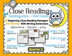 Included+in+this+resource:Everything+you+need+to+start+doing+Close+Reading+of+Text++activities+with+your+little+learners!+No+experience+necessary!SIX++Fall+themed+Close+Reading+Passages+(large+easy+to+read++font+with+activity+extensions/response+pages+for+++annotations+and+writing.