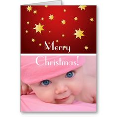 Christmas greeting card with your photo