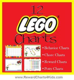 Lego reward charts, behavior charts, chore charts, potty training charts and incentive charts Chore Rewards, Behavior Rewards, Kids Behavior, Behavior Management, Classroom Management, Behavior Plans, Chore List, Chore Charts, Incentive Charts