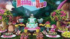 Masha e o urso para Luíza!  #festamashaeourso #festamenina #festaamareloerosa #mashaeourso ...