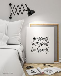 Be Trust Love Yourself Selflove Handlettered Motivational