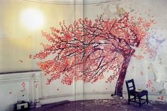 If I could paint with any semblance of grace, my walls would be my canvas.