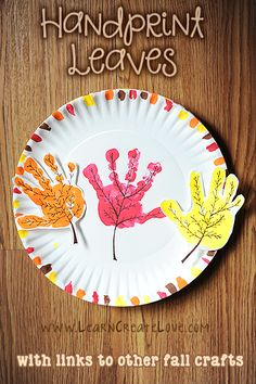 Handprint Fall Leaves Craft - Fall Crafts For Kids Fall Crafts For Toddlers, Thanksgiving Crafts For Kids, Kids Diy, Fall Arts And Crafts, Easy Fall Crafts, Daycare Crafts, Classroom Crafts, September Crafts, Autumn Leaves Craft