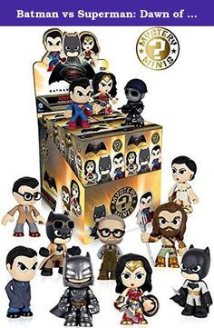 Batman vs Superman: Dawn of Justice Mystery Minis Display Figures Set of 12. Collect your favorite characters from the blockbuster film, Batman v Superman: Dawn of Justice! This Batman v Superman: Dawn of Justice Mystery Minis Display Case contains 12 blind-bagged mini-figures! Please note: Item selection is random. Items are in blind packaging. We cannot accept requests for specific items, nor can we accept returns on opened items. You may receive duplicates.