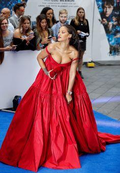Rihanna attends The Valerian Premiere in London (July 24)