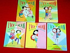 5 IVY + BEAN Chapter Books # 1 2 3 5 8 Annie Barrows Grades 1st 2nd 3rd Readers