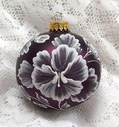 Rich Eggplant Pansy 3D MUD Ornament  128 por MargotTheMUDLady, $20.00