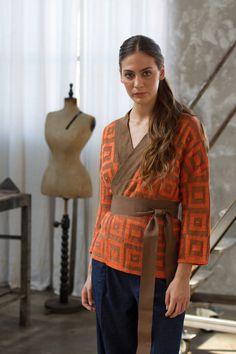 knitwear kimono jacket s-s 2016 collection Momoè