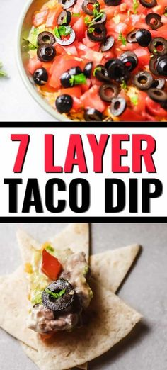 This easy 7 Layer Taco Dip is layers of delicious. It has all of your favorite Mexican flavors layered on top of each other. Pizza Dip Recipes, Best Appetizer Recipes, Fun Easy Recipes, Quick Easy Meals, Interesting Recipes, 7 Layer Taco Dip, Layered Taco Dip, Cold Appetizers, Recipe Steps