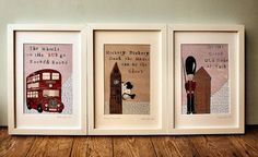 Set Of Three London Nursery Art prints by Helena Tyce Designs, £65 Not on the High Street