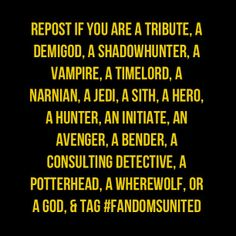 I'm a Demigod... And a bunch of others(some are on here others aren't) :). What are you?