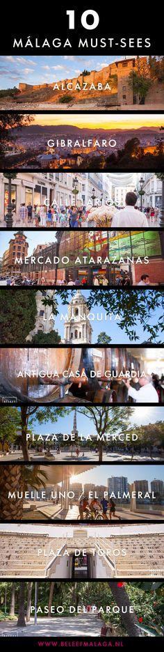 Top 10 bezienswaardigheden en must sees in Málaga. Een handig lijstje om mee te beginnen tijdens je stedentrip of vakantie in Málaga.