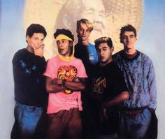 "Tony Hawk, Steve Caballero, Mike McGill, Lance Mountain, & Tommy Guerrero in ""Search for Animal Chin""."