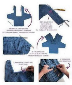 Cute knitting. Will try this for Zak