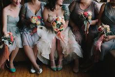 Bridesmaids in Grey Dresses | Cool Spring Wedding in Chicago | Megan Saul Photography | Bridal Musings Wedding Blog .jpg
