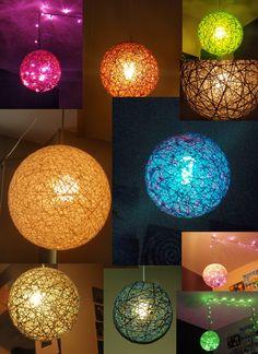 "17"" Hanging Sphere String Light Chandelier"