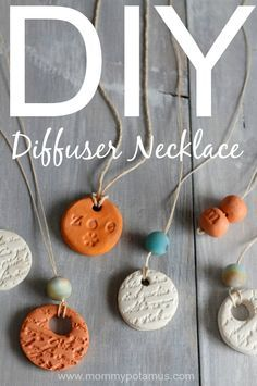 how to make essential oil diffuser necklace- so cute!! These would make great gifts as well as great project for a DIY oil class.