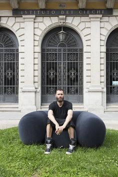 """Philippe Malouin creates """"plump"""" foam chair for Established & Sons"""