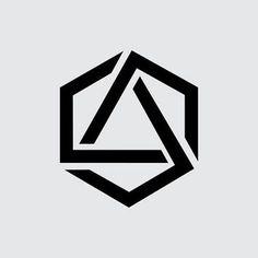 New tattoo geometric hexagon Ideas Geometric Logo, Geometric Designs, Geometric Shapes, Icon Design, Web Design, Graphic Design, Design Art, Logo Inspiration, Wm Logo