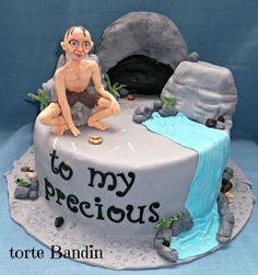 LOTR cake   gollum,lord of the rings,cake
